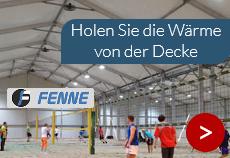 Sporthallen-Heizung optimieren mit Fenne-Ventilatoren